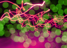 Neon abstract background Stock Photography