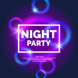 Neon abstract background. Night Party, Neon abstract background. Template with bright circles royalty free illustration