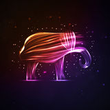 Neon abstract elephant Stock Images