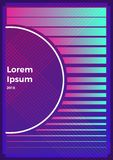 Neon abstract retro backgrounds. With different shapes on poster royalty free stock photos