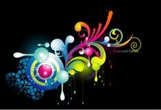 neon abstrakcjonistyczny wektor Obraz Royalty Free