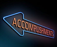Neon accomplishment concept. Royalty Free Stock Photography