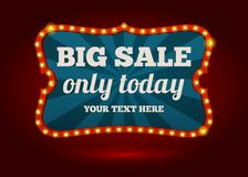 Neon advertising sign - Big Sale Stock Images