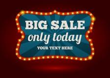 Neon advertising sign - Big Sale royalty free illustration
