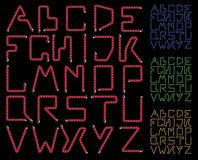 Neon alphabet Stock Photos