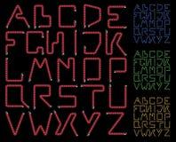 Neon alphabet Stock Photos