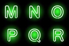 Neon alphabet Royalty Free Stock Photography