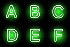 Neon alphabet Royalty Free Stock Image