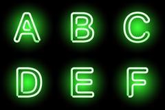 Neon alphabet Royalty Free Stock Image