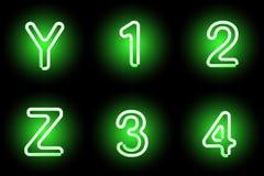 Neon alphabet Stock Photography