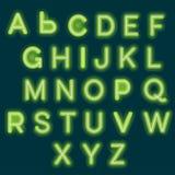 Neon alphabet vector illustration