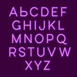 Neon alphabet stock illustration