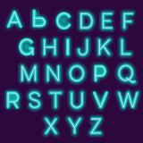 Neon alphabet stock illustration