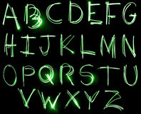 Neon Alphabet set Stock Images
