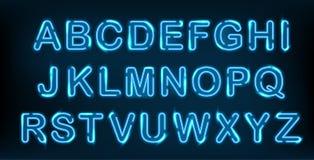 Neon alphabet set. Stock Images