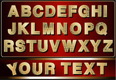 Neon alphabet. Set of neon letters stock illustration