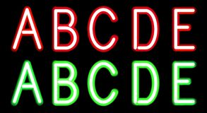 Neon alphabet Stock Images