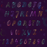 Neon Alphabet. Vector Stock Image