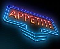 Neon appetite concept. Stock Photo