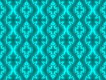 Neon Aqua Seamless Tile Royalty Free Stock Photos
