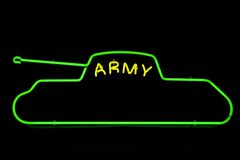 The neon army sign Stock Image