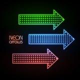 Neon arrows Royalty Free Stock Photo