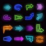 Neon Arrows Set Stock Images