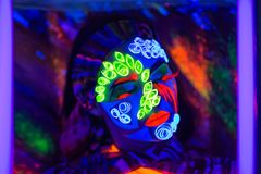 Neon Art Make Up Royalty Free Stock Photo