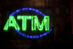 Neon ATM Sign Royalty Free Stock Image