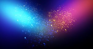 Neon, background bokeh, abstract scene. Abstract new background, scene, with glare of light and magical pollen, bright colors, on a dark background Stock Images