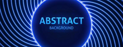 Neon background with a circular area in the center for your text. royalty free stock image