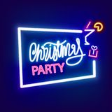 Neon banner Christmas party Stock Photo