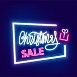 Neon banner Christmas sale Stock Photography