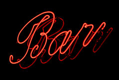 Neon bar Royalty Free Stock Photography