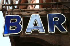 Neon bar sign Royalty Free Stock Photography