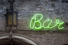 Neon Bar Sign Royalty Free Stock Photos