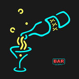 Neon Bar Symbol Stock Photography
