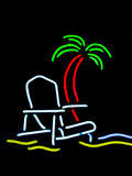 Neon beach scene sign Royalty Free Stock Photography