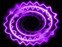 Neon bewegt die purpurroten Gewinde wellenartig Stockfotografie