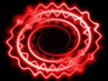 Neon bewegt purpurrotes Rot der Gewinde wellenartig Stockfotos