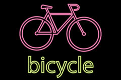 Neon Bicycle Symbol Stock Image