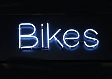 Neon Bikes. Neon sign - Bikes royalty free stock photography