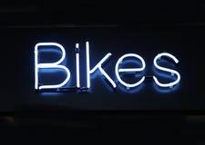 Neon Bikes. Neon sign - Bikes Royalty Free Stock Photography