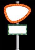 Neon billboard Stock Images
