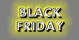 Neon Black Friday på remsor royaltyfri foto