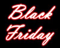 Neon-Black Friday-Titel Stockfoto