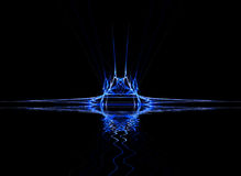 Neon Blue. Abstract background with copy space Royalty Free Stock Image