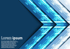Neon blue arrow abstract background Royalty Free Stock Photos