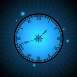 Neon blue hours Royalty Free Stock Image
