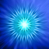 Neon blue lights in circles Royalty Free Stock Image